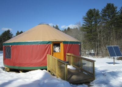 Yurt classroom at BBA