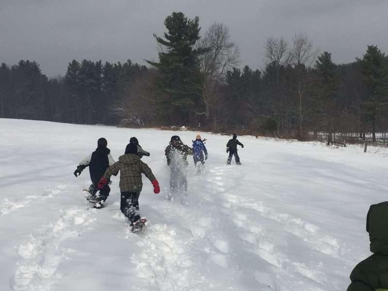 Winter Homeschool Snowshoe